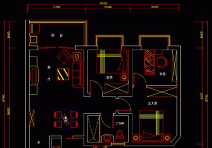 室内平面图绘制流程 2.