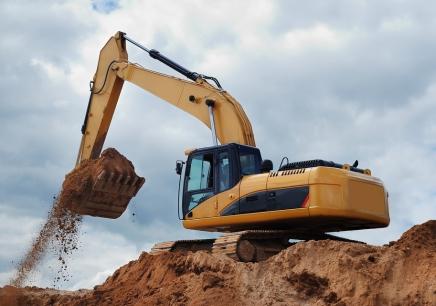 挖掘机的工作原理,液压