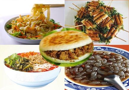 米线、凉皮、蛙鱼、油炸菜串、肉夹馍班