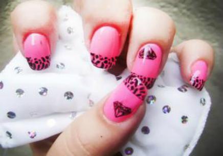 颜料手绘指甲(各种花型)
