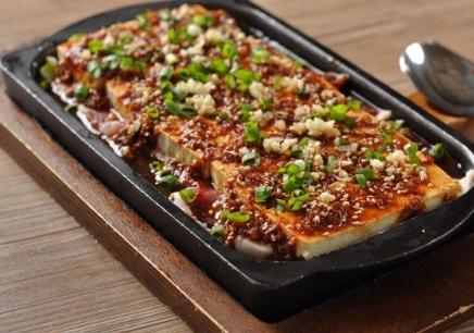 韩国料理铁板豆腐