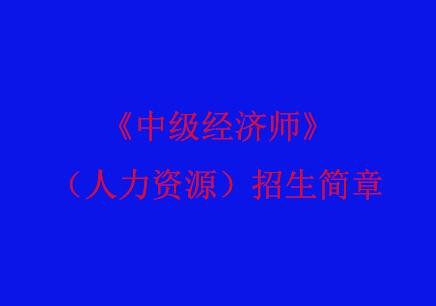 《中级经济师》(人力资源)上海