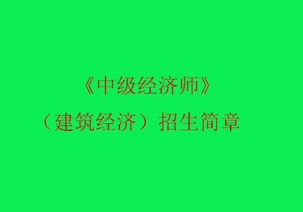 《中级经济师》(建筑经济)上海