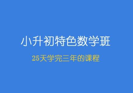 青岛小升初数学暑期班