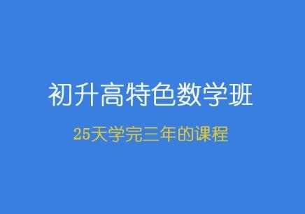 青岛初升高数学补习班