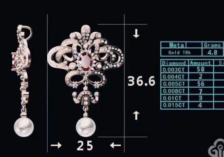 上海珠寶JCAD電繪