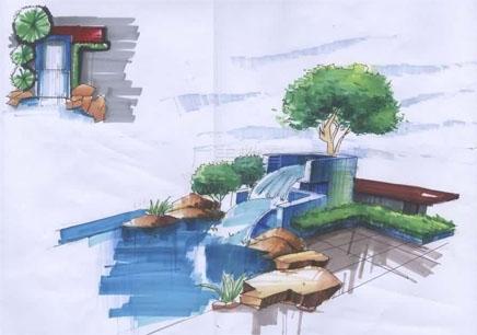 独立完成景观设计手绘全套方案