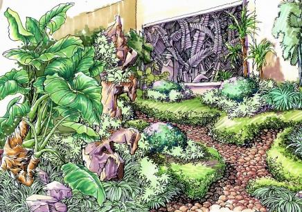 园林景观手绘效果图特训班