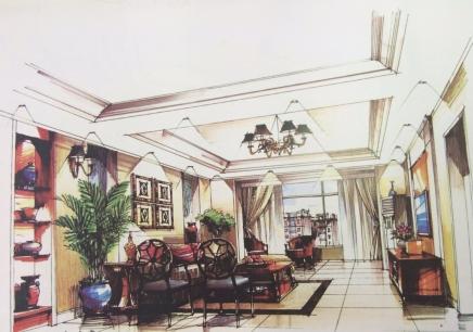 【室内手绘效果图实战班】_上海室内设计培训中心