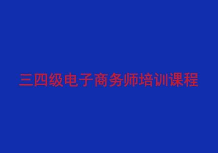 电子商务师(三四级)培训课程