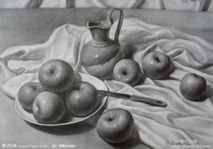 初中生风景美术绘画作品