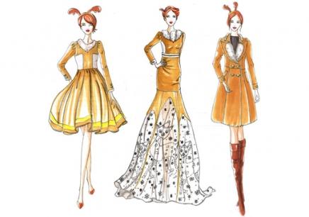 上海手绘服装设计培训课程图片