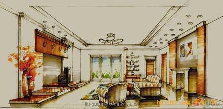 家具展示空间手绘效果图