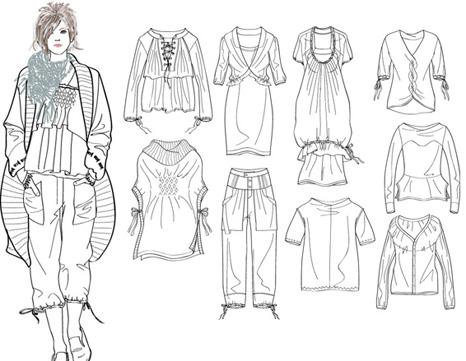 服装效果图手绘图片女