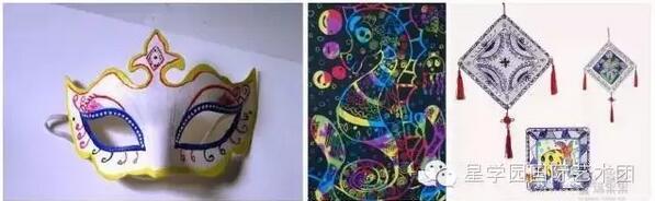 手绘面具儿童画