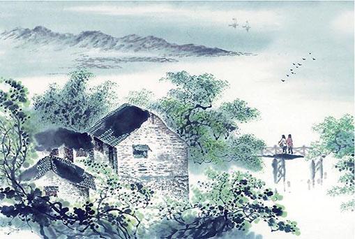 现代建筑中国画材料技法-少儿国画初级班
