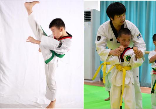 翔翎艺术学校跆拳道上课情况展示