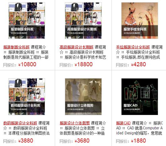 上海服装设计培训班价格_上海服装设计培训学校收费