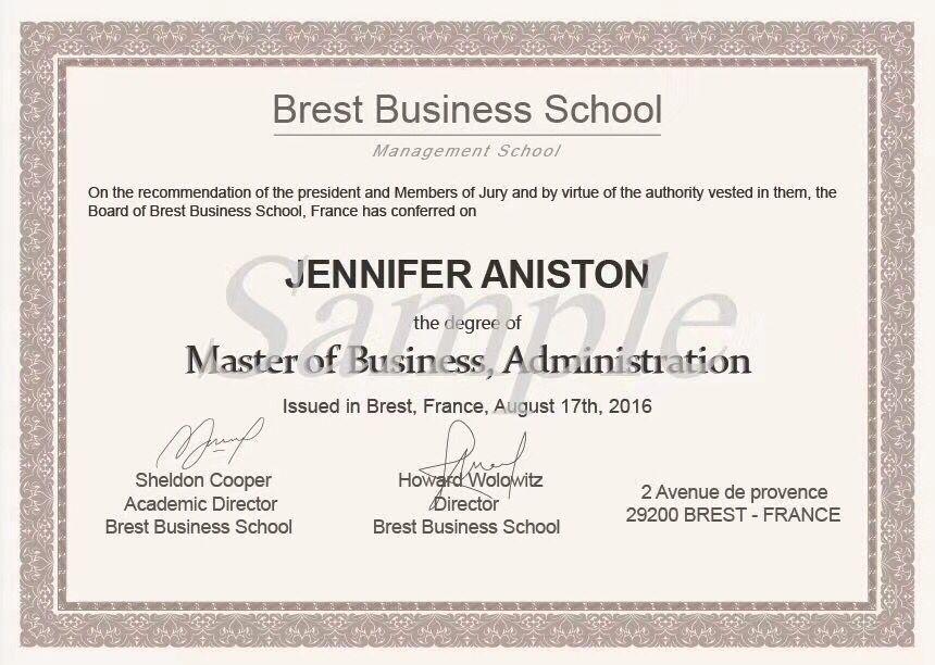 法国BBS商学院免联考研究生被国家承认吗
