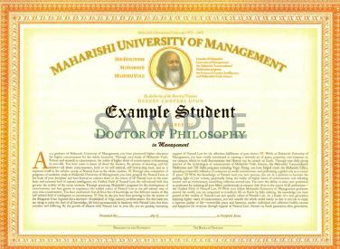 美国玛赫西管理大学管理学博士