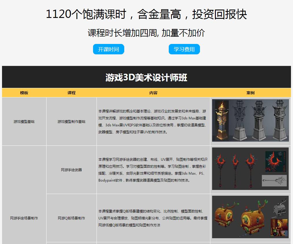 深圳游戏美术设计培训学校