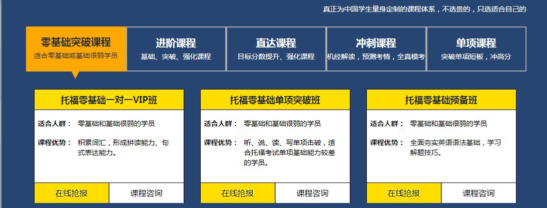 杭州托福培训课程