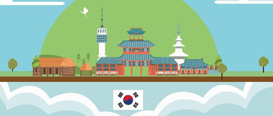 韩语社招新海报素材