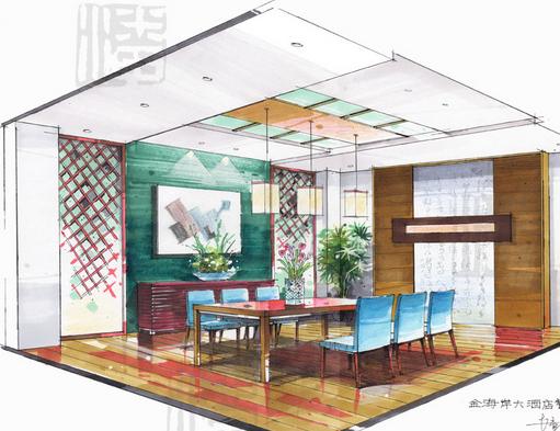◆ 手绘效果图与表现技法主要讲述建筑和装饰绘图的基本原高清图片