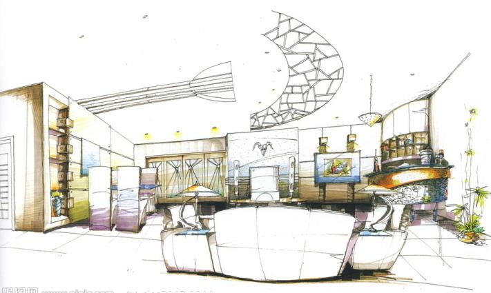 办公空间,居住空间,商业空间,展示空间,快题设计(客厅,餐厅,卫生间